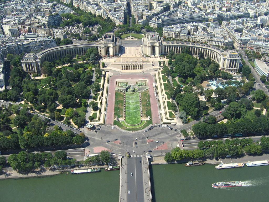 Trocadero Paris Vu De La Tour Eiffel Trocadero Paris Vie