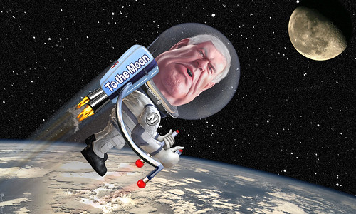 Newt Gingrich - To The Moon | by DonkeyHotey