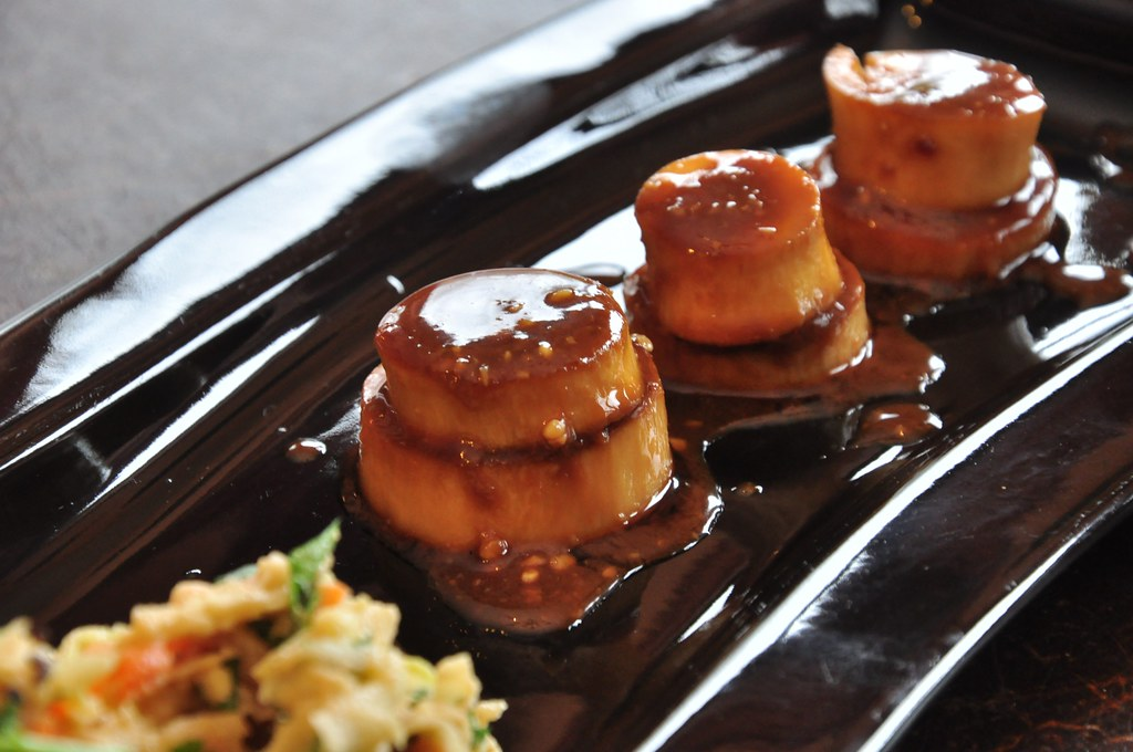 "King Trumpet Mushroom ""Scallops"" with BBQ Miso Glaze | Flickr"