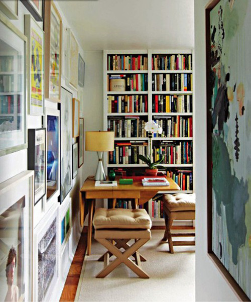 Source unknown white classic traditional vintage modern l for Only books design apartment 8