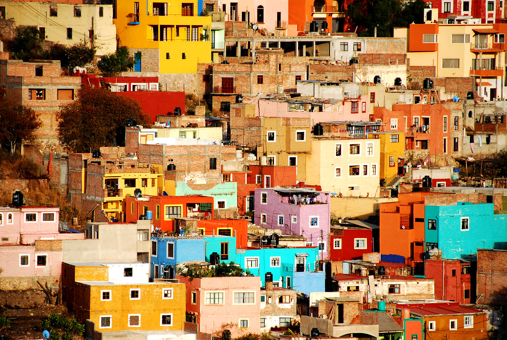 Houses On The Hill Guanajuato Mexico Color Collection