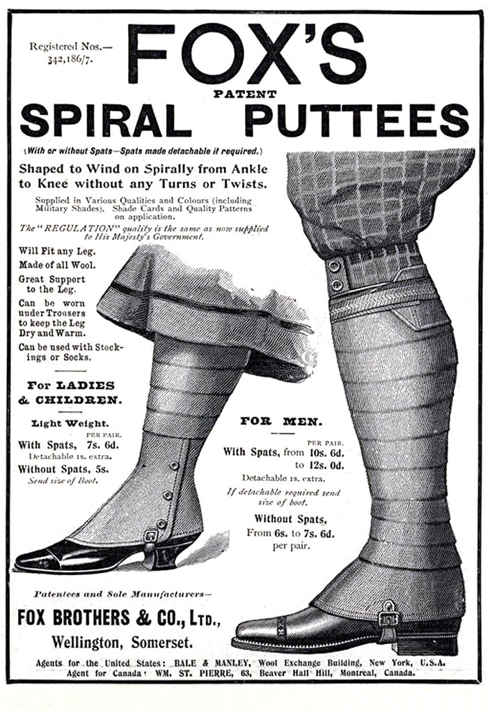 1904 - Fox's Spiral Puttees | Apparently this is going to