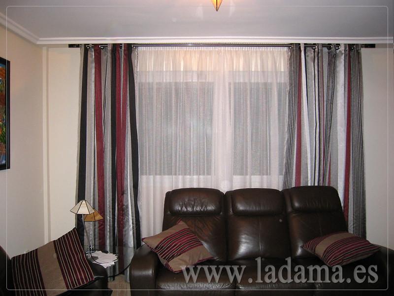 Decoraci n para salones cl sicos cortinas con dobles cort - Cortinas para salones clasicos ...