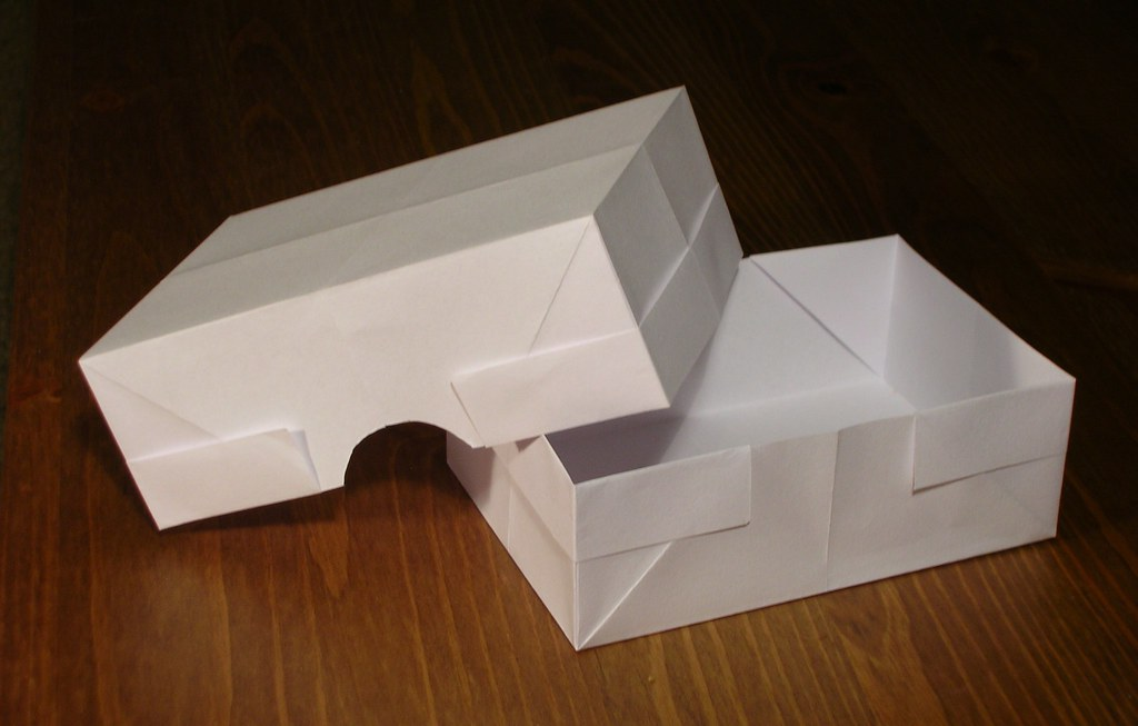 Origami Rectangle Box And Lid