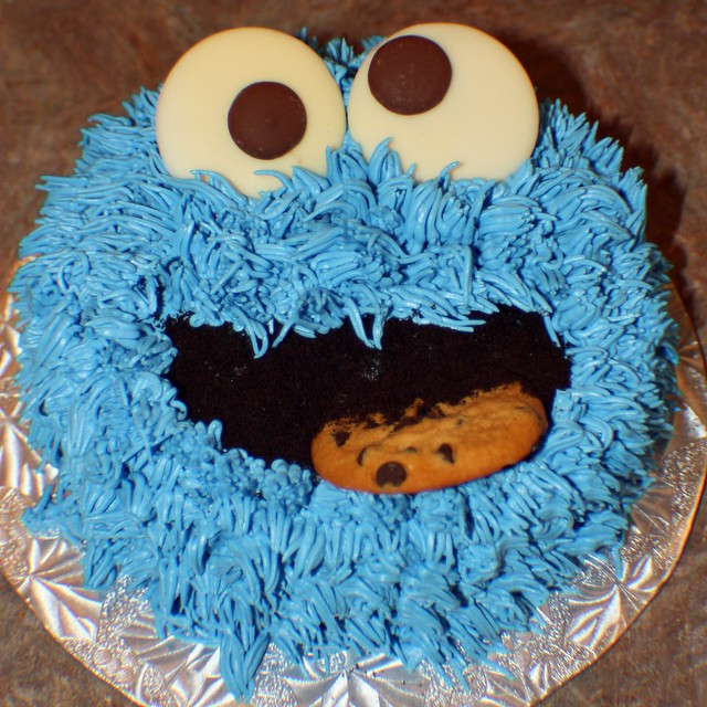 cookie Monster smash cake | Flickr - Photo Sharing!