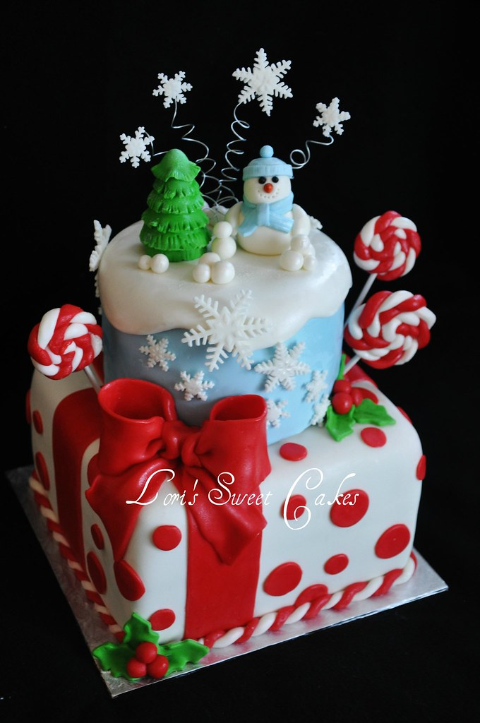 Decorating A Sheet Cake For Christmas