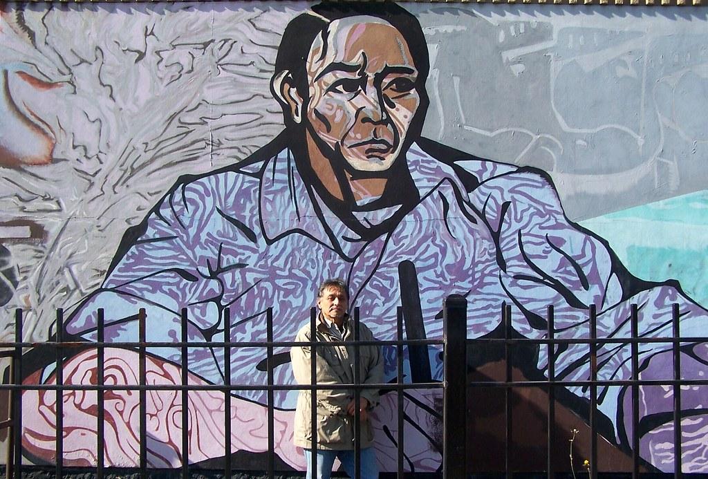 Benito juarez detail a la esperanza mural acrylic on for Benito juarez mural