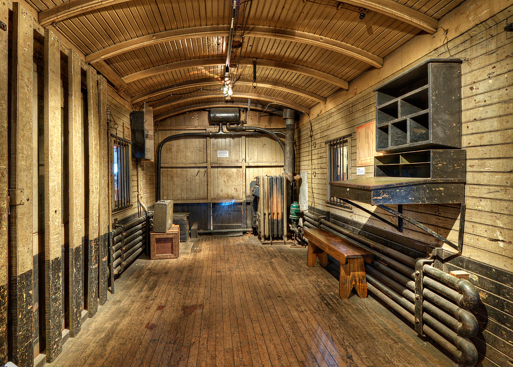 baggage car interior b o railroad museum baltimore zolt levay flickr. Black Bedroom Furniture Sets. Home Design Ideas