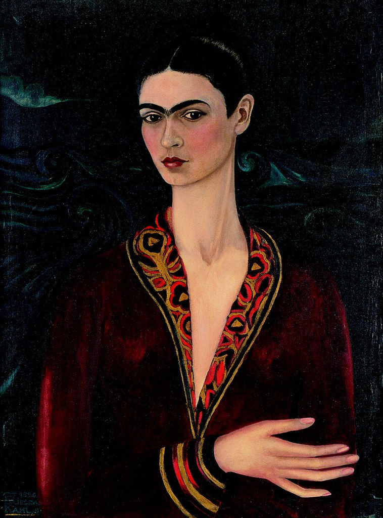 frida kahlo selbstbildnis mit samtkleid 1926 l auf. Black Bedroom Furniture Sets. Home Design Ideas