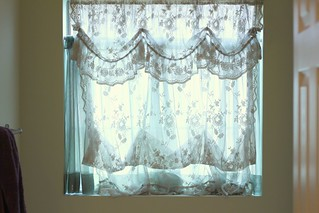 Bathroom Curtains (before) | by niftyfoodie