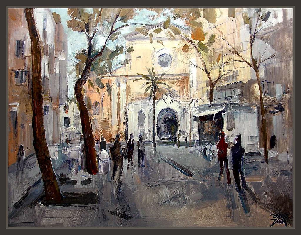 Vilanova i la geltru rambla paisaje urbano garraf pintura for Jardineria vilanova i la geltru