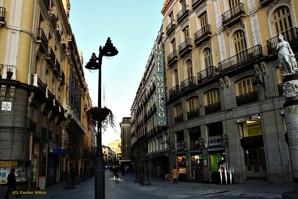 Calle Arenal Desde Puerta Del Sol Madrid Madrid La