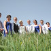 Bridal party in the long grass