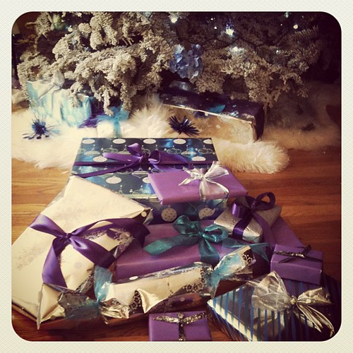 I should be writing, but I'm wrapping presents instead... #Christmas | by ...love Maegan