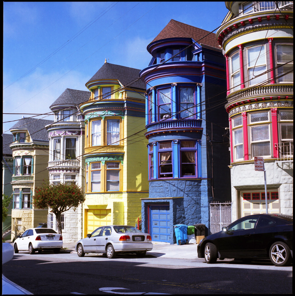 Colorful houses in san francisco hasselblad 500c 80mm f for Houses in san francisco