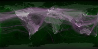 World travel and communications recorded on Twitter | by Eric Fischer