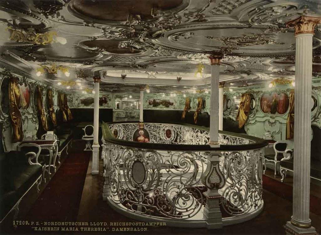 Ss Kaiserin Maria Theresia Ladies Salon Oldimages Flickr