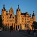Schwerin castle in the evening light