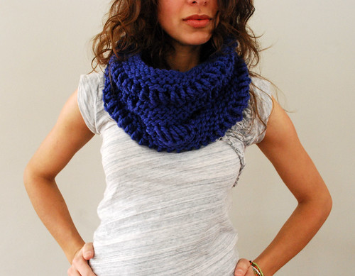 Cowl in Cobalt | by SpiderWomanKnits
