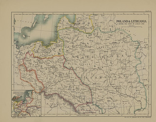 Map page of Section XLVII Poland, and Lithuania before the union of Lublin in 1569 from Part X of Historical atlas of modern Europe from the decline of the Roman empire : comprising also maps of parts of Asia and of the New world connected with European h | by uconnlibrariesmagic