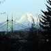 Mt. Hood Looming Behind the St. Johns Bridge