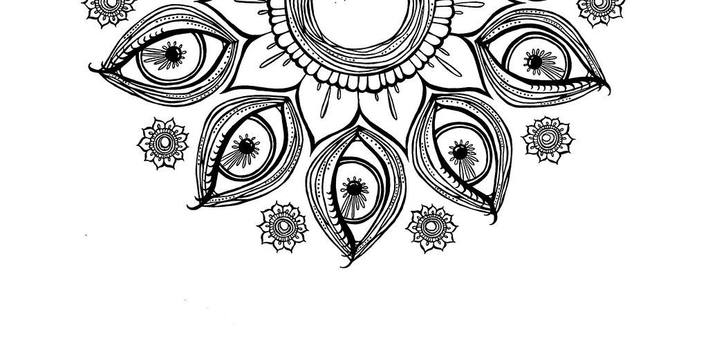 Half Mandala | Rotated half crop for packaging. | Shayna ... - photo#17