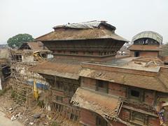 Destroyed King's Palace in Kathmandu