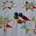 Christmas Stars - threads - my first hand quilting project