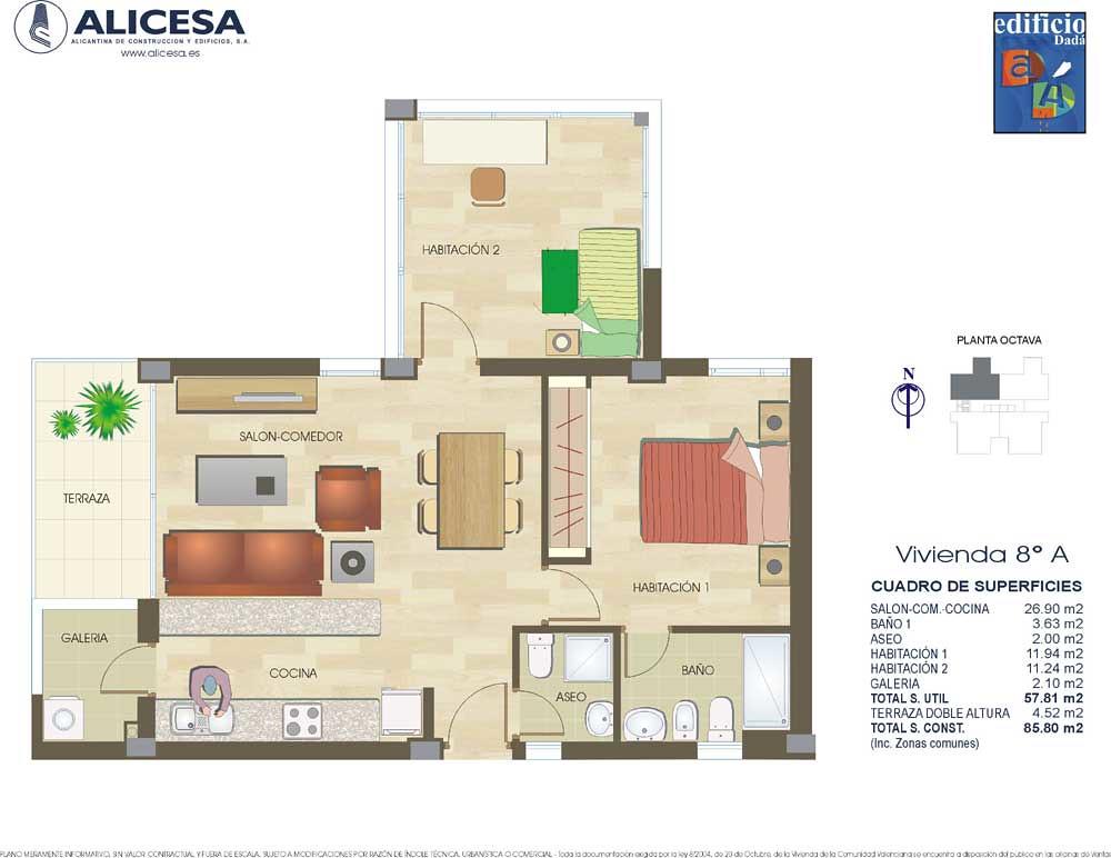 Piso tipo 8a viviendas de obra nueva en alicante zona v a flickr - Pisos obra nueva alicante ...