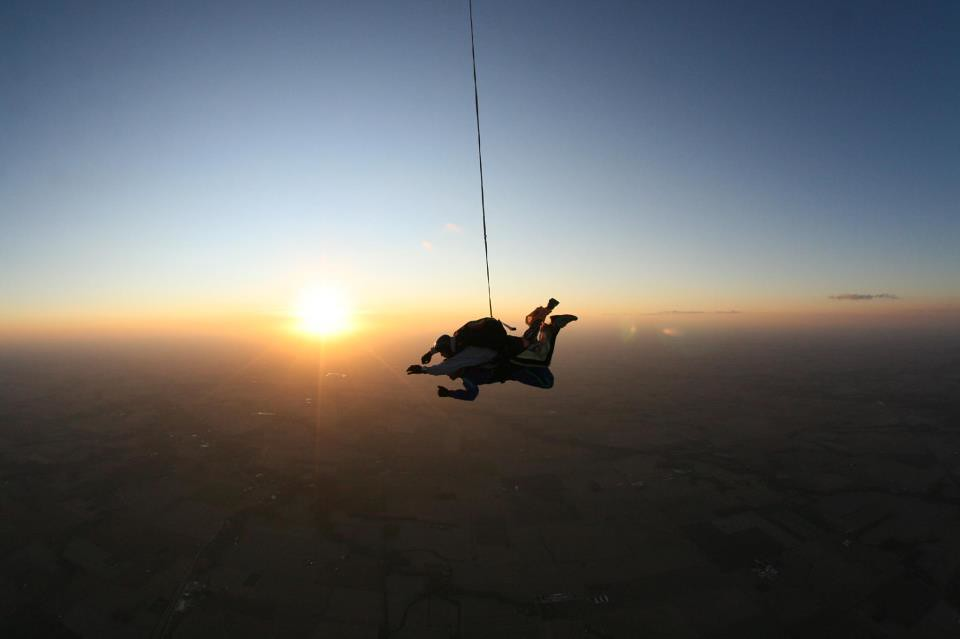 skydiving wallpaper sunset free - photo #24