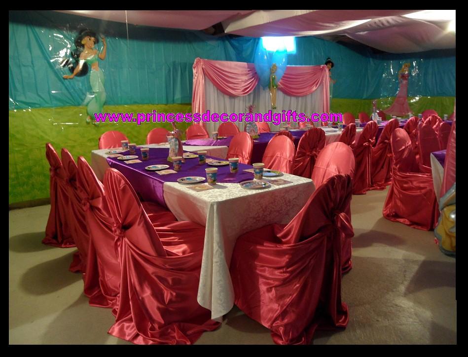 Princess Party Decorations Basement