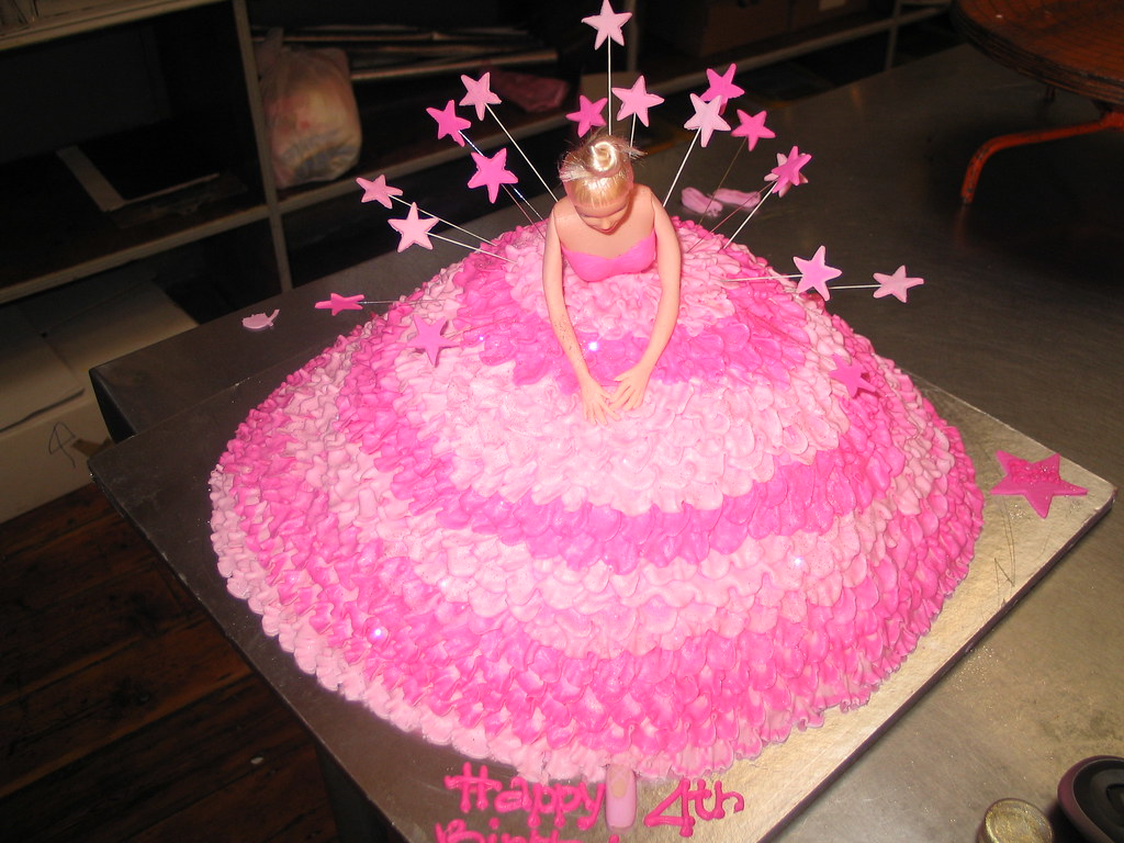 Images Of Barbie Cake Designs : Barbie Ballerina cake iced in shades of pink Charly s ...