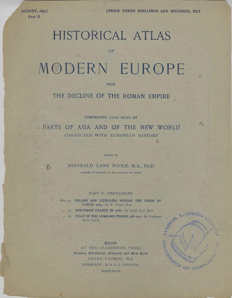 Title page from Part X of Historical atlas of modern Europ…  Flickr