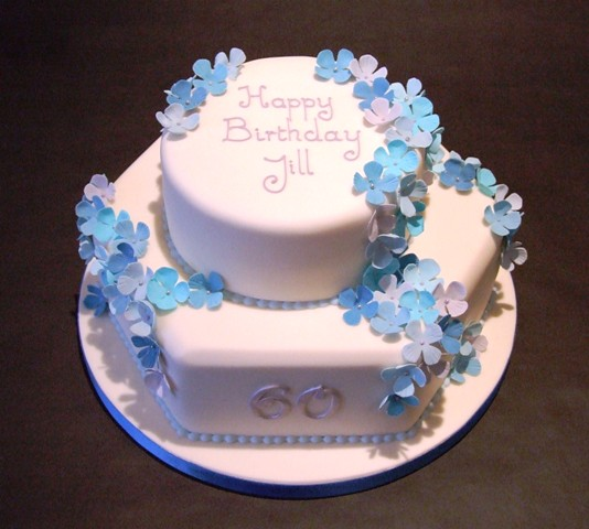Blue Flower 60th Birthday Cake Cake Number 2 From The