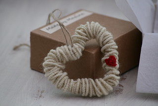 English Wool Decorative Heart | by made by maxine