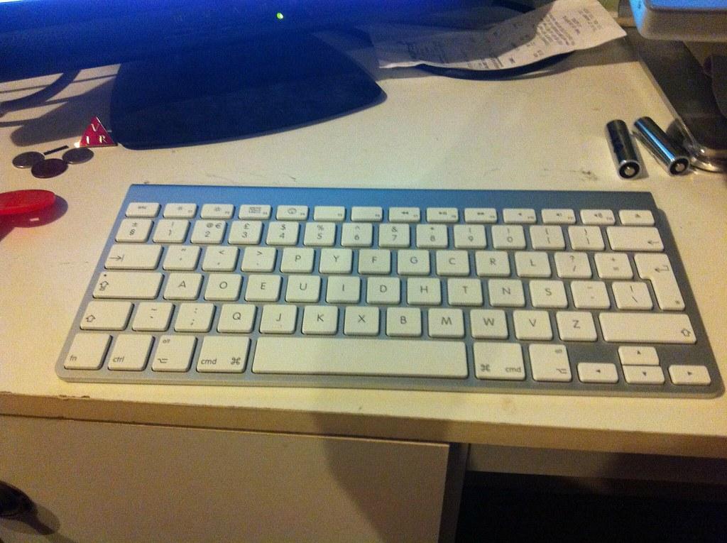 Apple Wireless keyboard with Dvorak simplified layout   Flickr