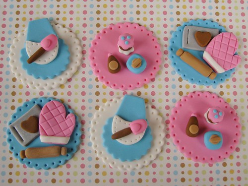 Retro Baking Cupcake Toppers | by Lynlee's