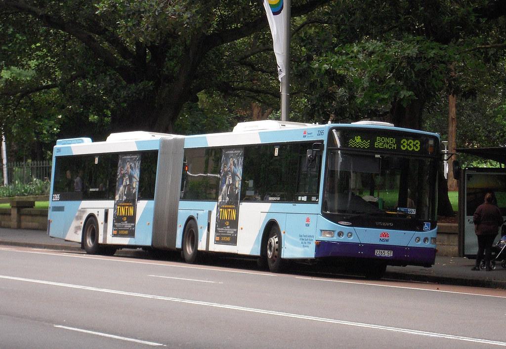 Sydney Buses Volvo 2265 Route 333 Bondi Beach Elizabe