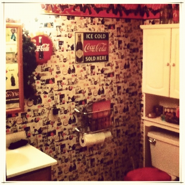 . Yes  it  39 s a Coca Cola themed bathroom    home  bathroom  C    Flickr