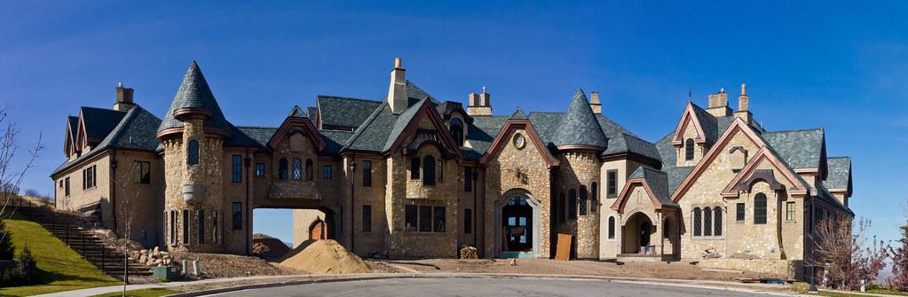 Draper castle mansion under construction draper utah for Building a house in utah