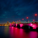 Breast Cancer Awareness Lights on Royal Park Bridge in West Palm Beach