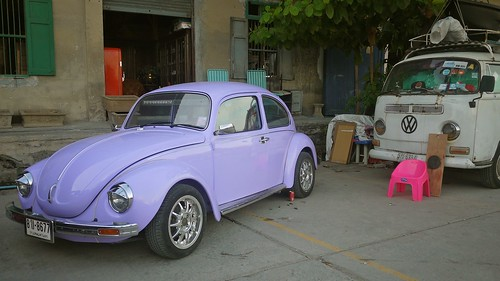 Purple VW Beetle | by randomwire