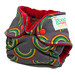 Stormy Rainbow Newborn Fitted Diaper with Crimson Cotton Velour