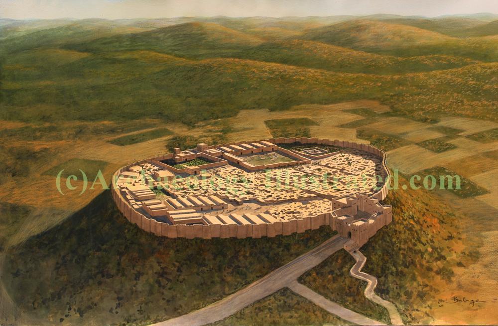 Megiddo israel illustration by balage balogh situated at