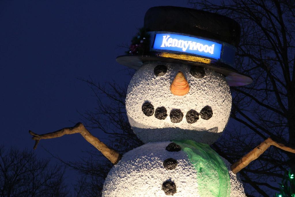 Snowman Kennywood Holiday Lights 2011 Pittsburgh