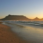 Sunset - Table Mountain from Woodbridge Island, Milnerton - Cape Town