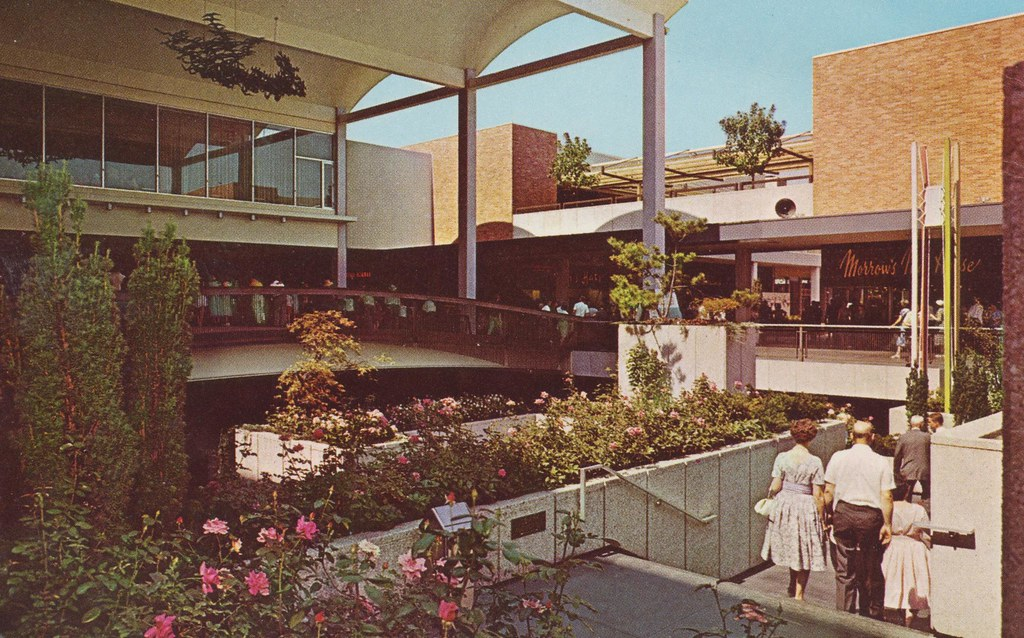 Rose Garden At Lloyd Center Portland Oregon From A 1963 Flickr