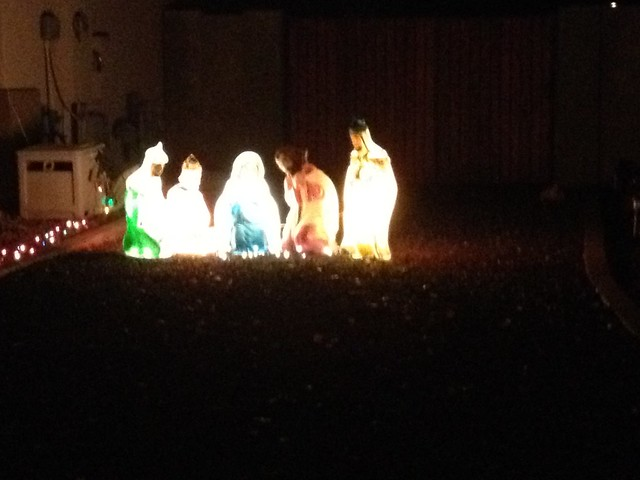 Outdoor decor nativity scene inventrush for Outdoor christmas scenes