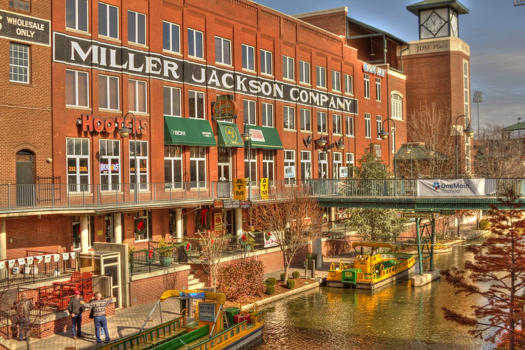 Bricktown Canal A Winter View Of The Canal In Okc S
