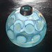Fenton for DeVilbiss coin dot perfume bottle